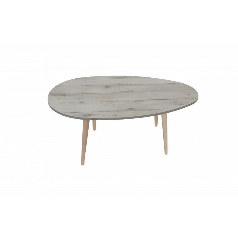 """Τραπέζι σαλονιού """"King"""" σε χρώμα γκρι-μπεζ 98x60x39"""