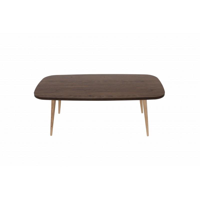 """Τραπέζι σαλονιού """"SOFIA"""" σε χρώμα καστανιά 120x60x44"""