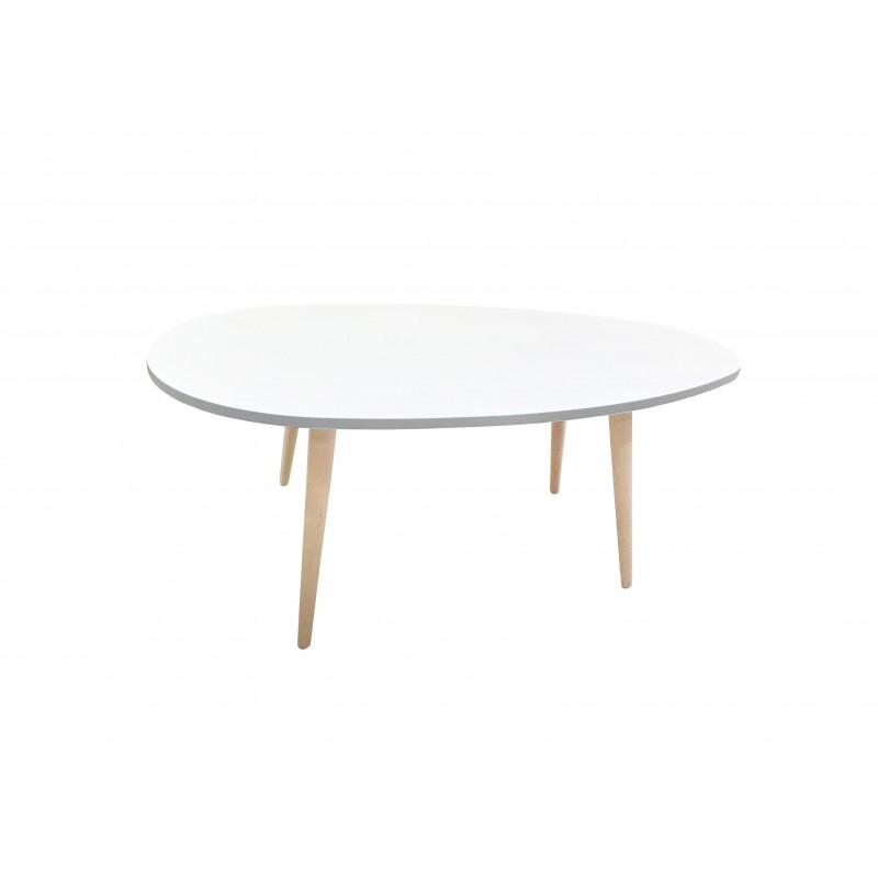 """Τραπέζι σαλονιού """"KING"""" σε χρώμα λευκό 98x60x39"""