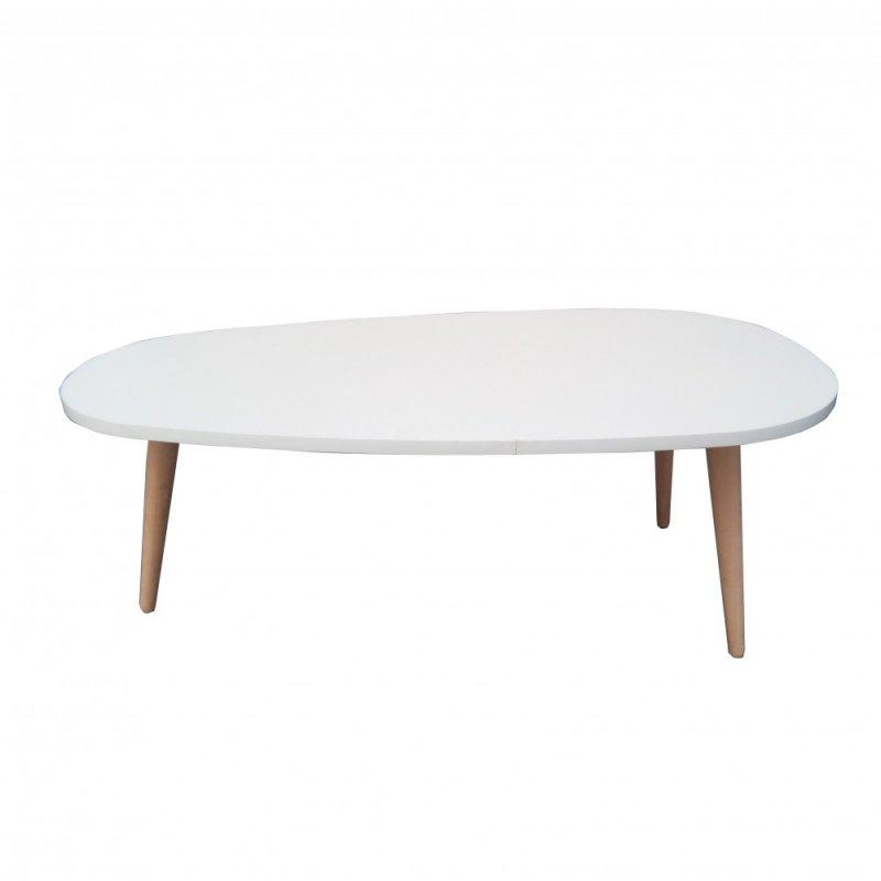 """Τραπέζι σαλονιού """"LEFT"""" χρώματος λευκό 88,5x47,5x33"""