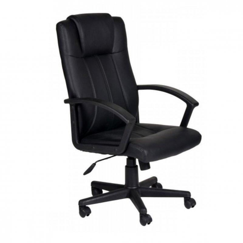 """Πολυθρόνα γραφείου διευθυντή """"Manager"""" από pu σε μαύρο χρώμα 64x70x114-124"""