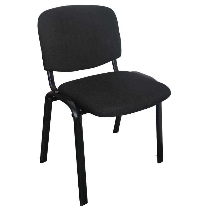 Καρέκλα γραφείου επισκέπτη υφασμάτινη σε χρώμα μαύρο 54x50x72