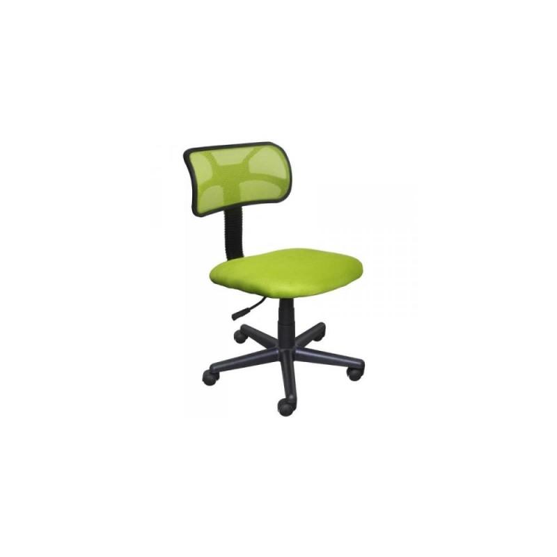 Καρέκλα γραφείου εργασίας σε χρώμα λαχανί 45x58x80/90
