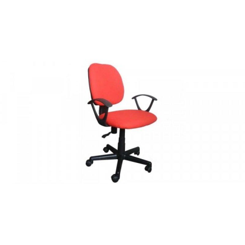 Πολυθρόνα γραφείου εργασίας σε χρώμα κόκκινο 55x58x80/90