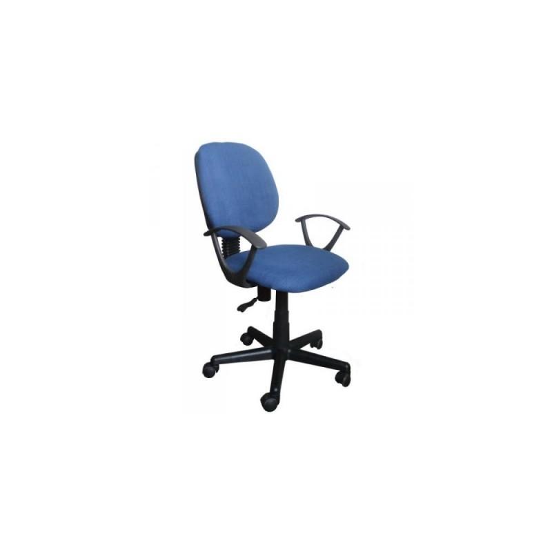 Πολυθρόνα γραφείου εργασίας σε χρώμα μπλε 55x58x80/90