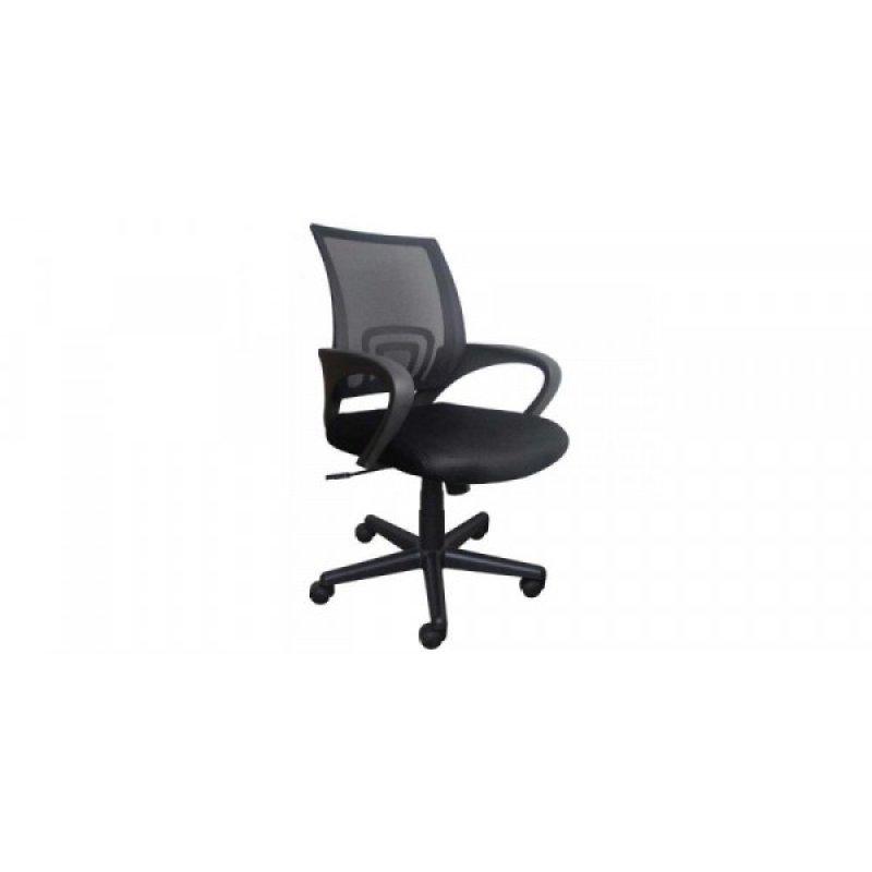 Πολυθρόνα γραφείου εργασίας σε χρώμα μαύρο 59x60x80/90