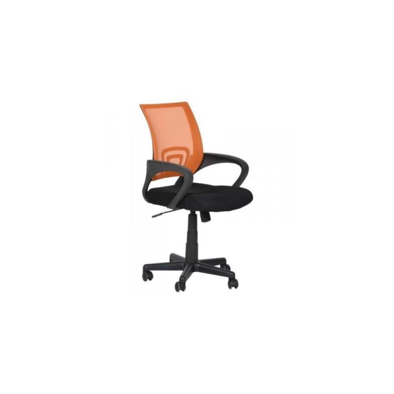 Πολυθρόνα γραφείου εργασίας σε χρώμα μαύρο-πορτοκαλί 59x60x80/90