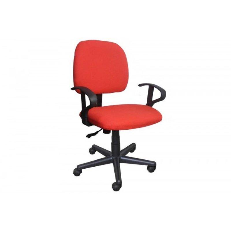 Πολυθρόνα γραφείου εργασίας σε κόκκινο χρώμα 55x58x80/90