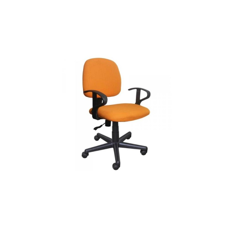 Πολυθρόνα γραφείου εργασίας σε πορτοκαλί 55x58x80/90