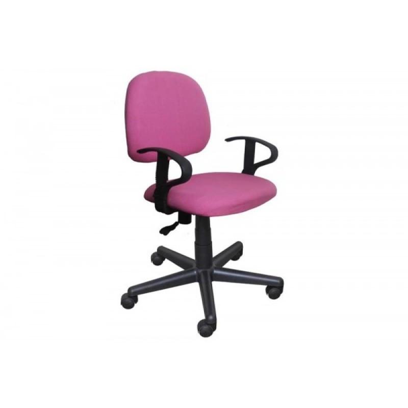 Πολυθρόνα γραφείου εργασίας σε χρώμα ροζ 55x58x80/90