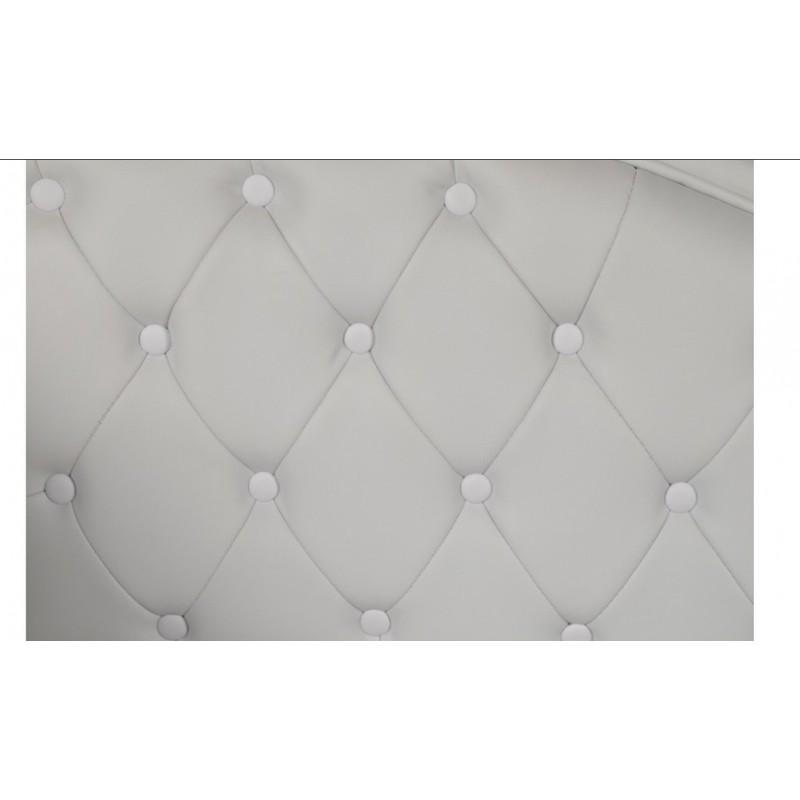 Ανάκλινδρο τ. Chesterfield σε λευκό χρώμα αριστερό μπράτσο 190x61x84