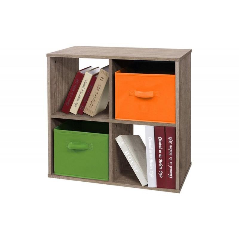 Βιβλιοθήκη γραφείου σε χρώμα σταχτί 61x30x61