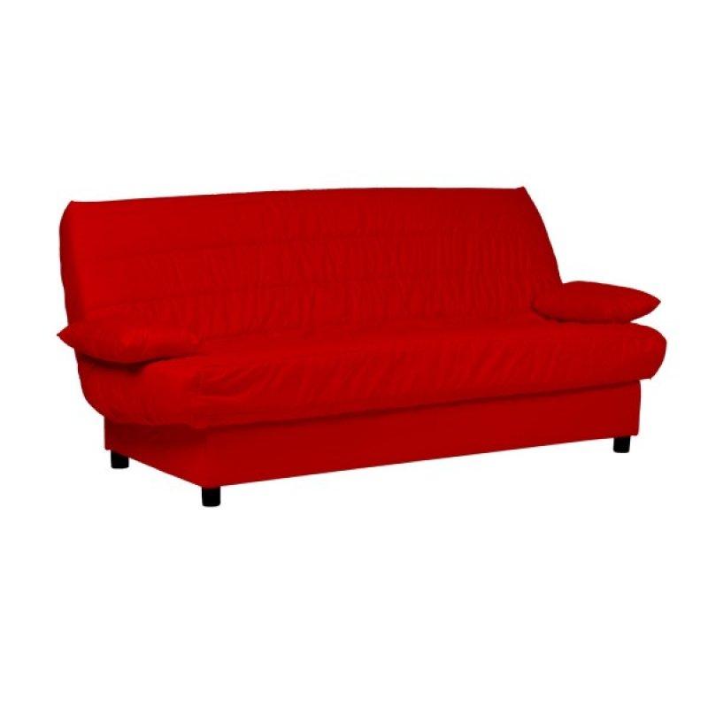 """Καναπές-κρεβάτι """"ECO"""" τριθέσιος υφασμάτινος σε χρώμα κόκκινο 185x88x82"""