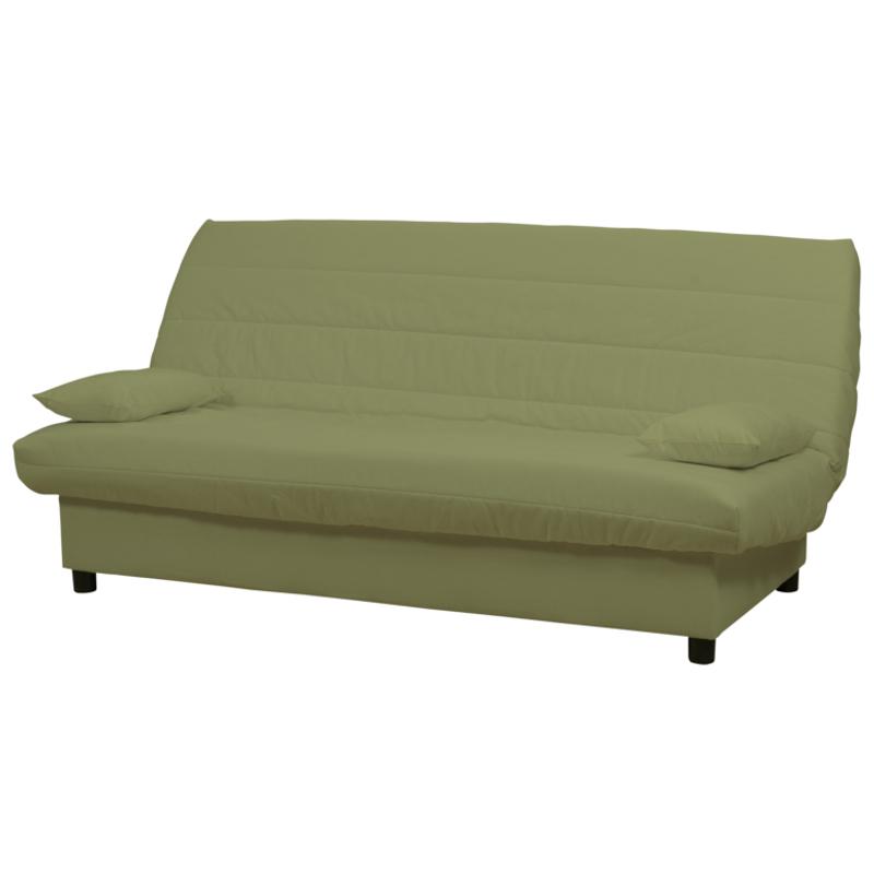 """Καναπές-κρεβάτι """"ECO"""" τριθέσιος υφασμάτινος σε χρώμα λαχανί 185x88x82"""