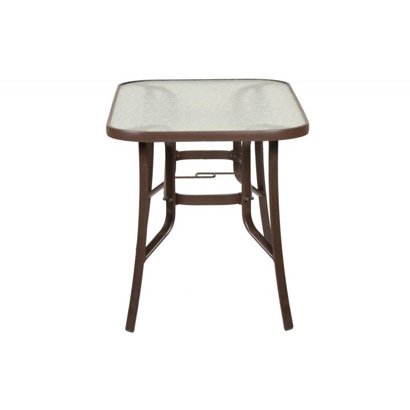 """Τραπέζι """"PALERMO"""" αλουμινίου σε χρώμα καφέ 140x80x71"""