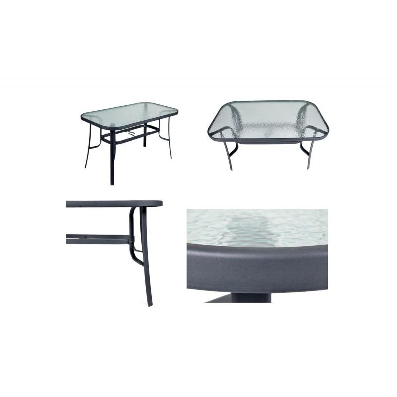 """Τραπέζι """"FESTIVAL"""" μεταλλικό σε ανθρακί χρώμα 120x70x71"""
