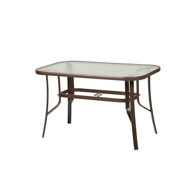 """Τραπέζι """"FESTIVAL"""" μεταλλικό σε καφέ χρώμα 120x70x71"""
