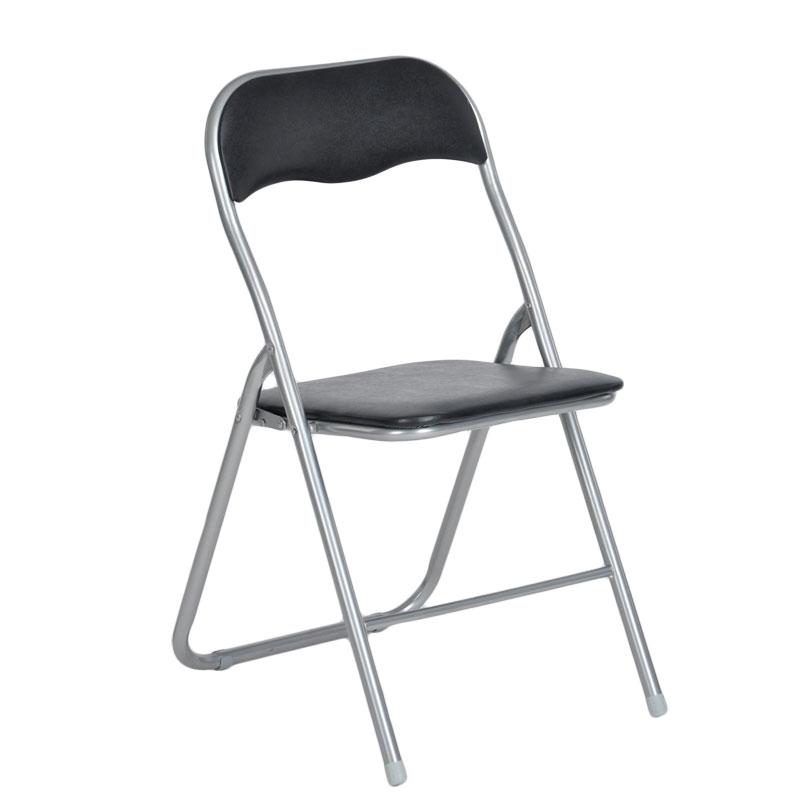 """Καρέκλα """"MANGO"""" μεταλλική πτυσσόμενη σε χρώμα μαύρο 44x48x80"""