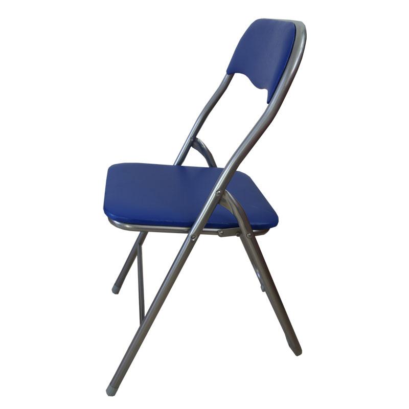 """Καρέκλα """"MANGO"""" μεταλλική πτυσσόμενη σε χρώμα μπλε 44x48x80"""