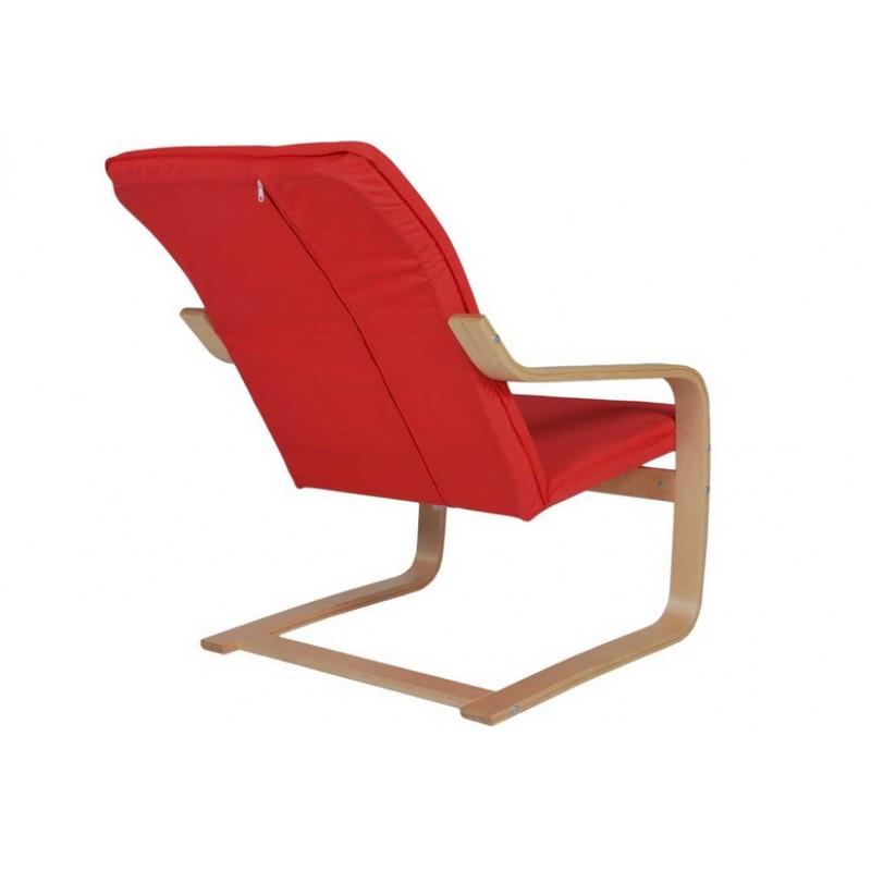 """Πολυθρόνα """"RELAX"""" υφασμάτινη σε χρώμα κόκκινο 67x78x95"""