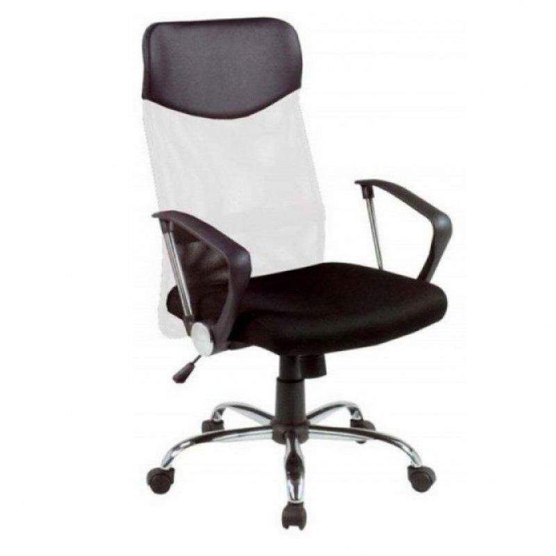 Πολυθρόνα γραφείου διευθυντή σε μαύρο-λευκό 63x63x110/120