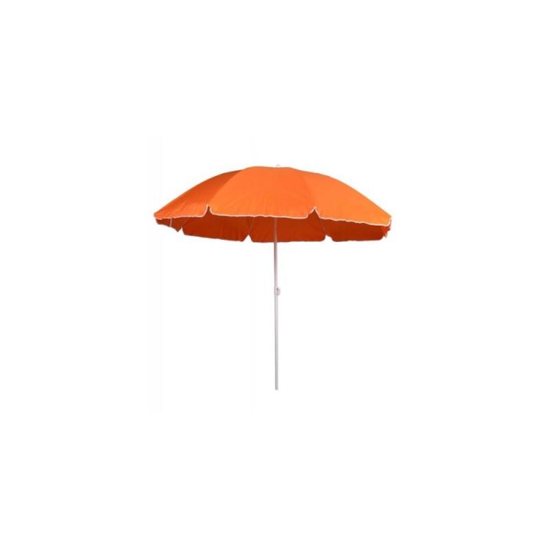 Ομπρέλα θαλάσσης στρόγγυλη 2 μέτρα μεταλλική σε πορτοκαλί χρώμα