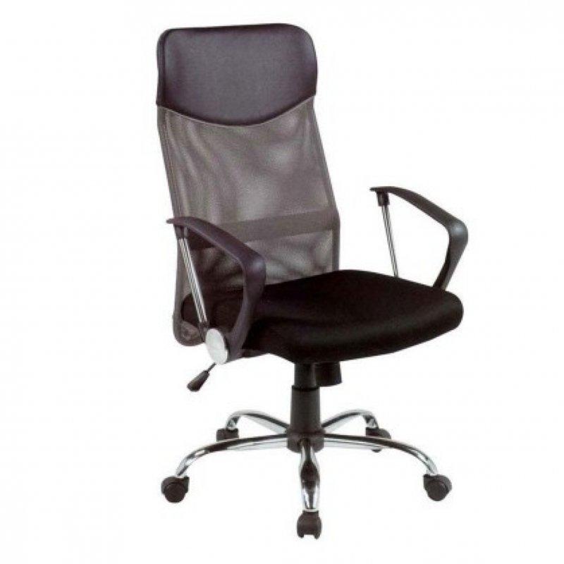 Πολυθρόνα γραφείου διευθυντή σε μαύρο-γκρι 63x63x110/120