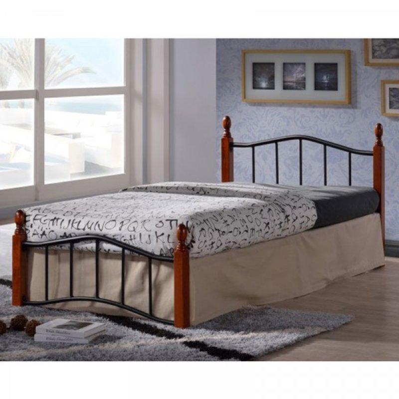 """Κρεβάτι """"MELITA"""" διπλό μεταλλικό σε ματ μαύρο χρώμα 150x200"""