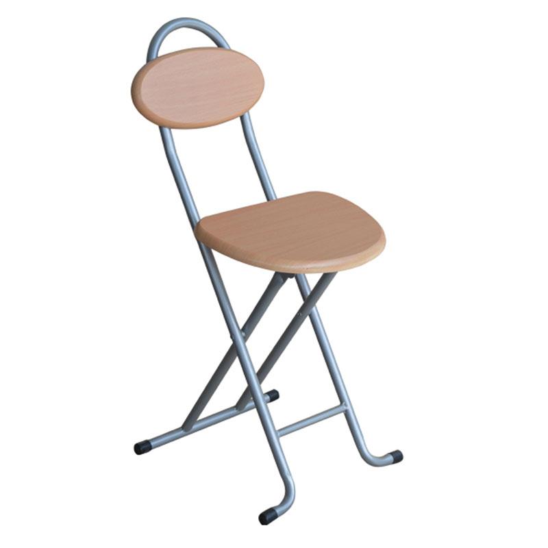 Σκαμπώ μεταλλικό με κάθισμα ξύλινο MDF 5x40x75