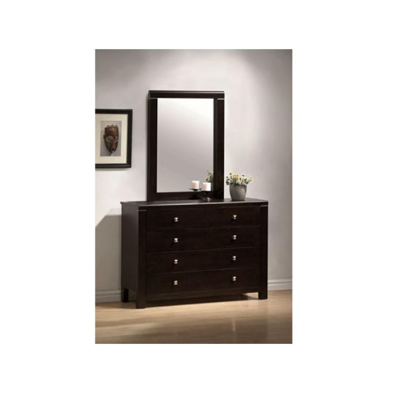 """Τουαλέτα-συρταριέρα """"RAINBOW"""" με καθρέπτη σε χρώμα βέγγε 120x40x92"""