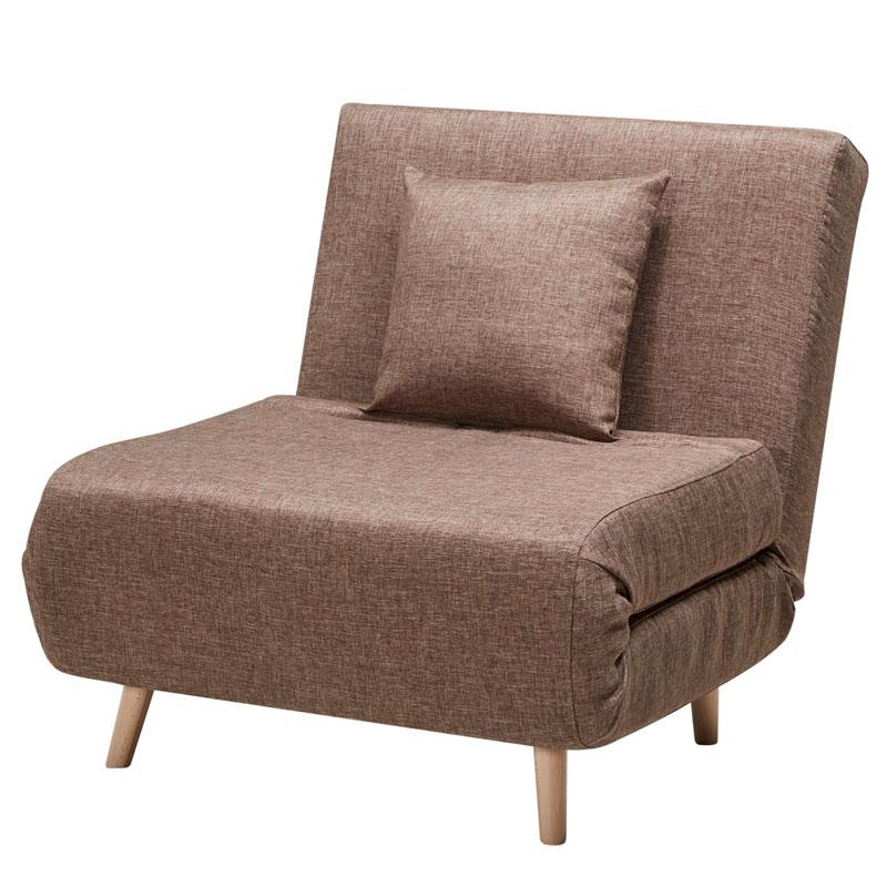 """Πολυθρόνα-κρεβάτι """"TITA"""" σε χρώμα καφέ 77x85x82"""