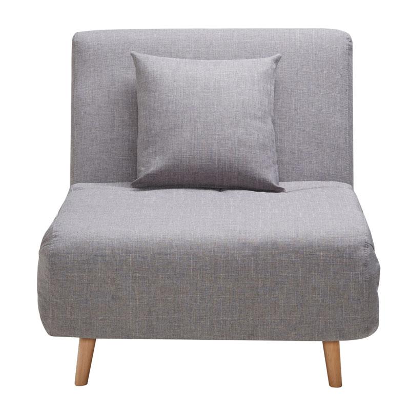 """Πολυθρόνα-κρεβάτι """"TITA"""" σε χρώμα γκρι 77x85x82"""