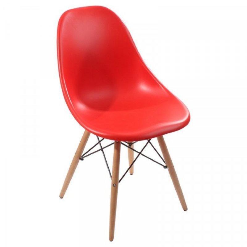 """Καρέκλα """"MALTA"""" από μασίφ ξύλο σε χρώμα κόκκινο 51x47x81"""