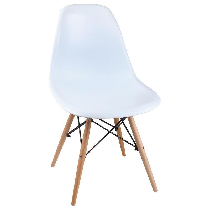 """Καρέκλα """"MALTA"""" από μασίφ ξύλο σε χρώμα λευκό 51x47x81"""
