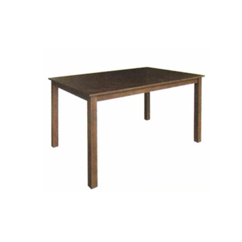 Τραπέζι από μασίφ ξύλο σε χρώμα καρυδί 120x75x74