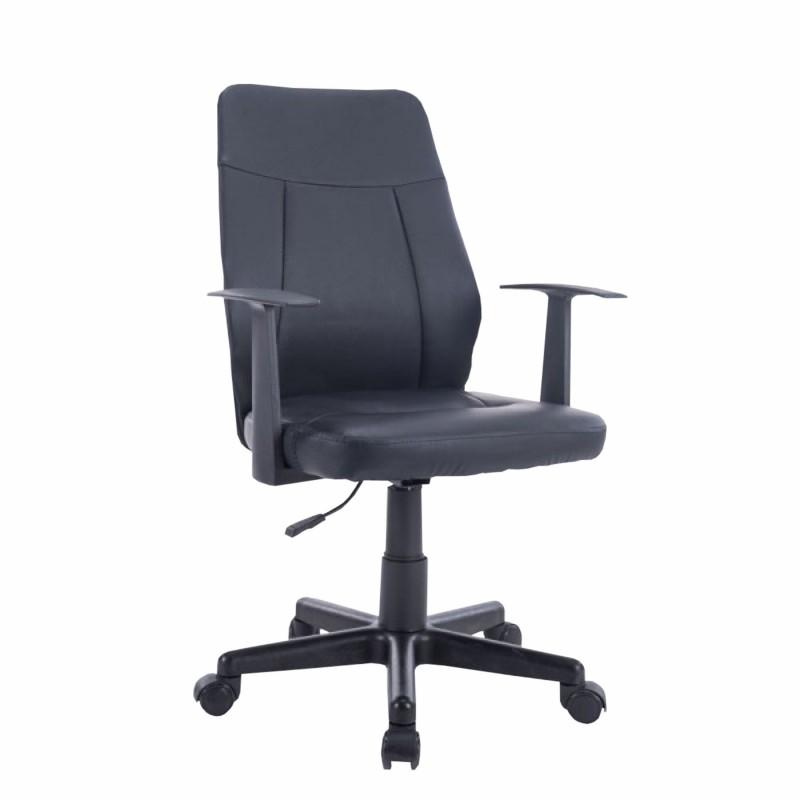 Πολυθρόνα γραφείου διευθυντή από pu σε μαύρο χρώμα 55x54x90-100