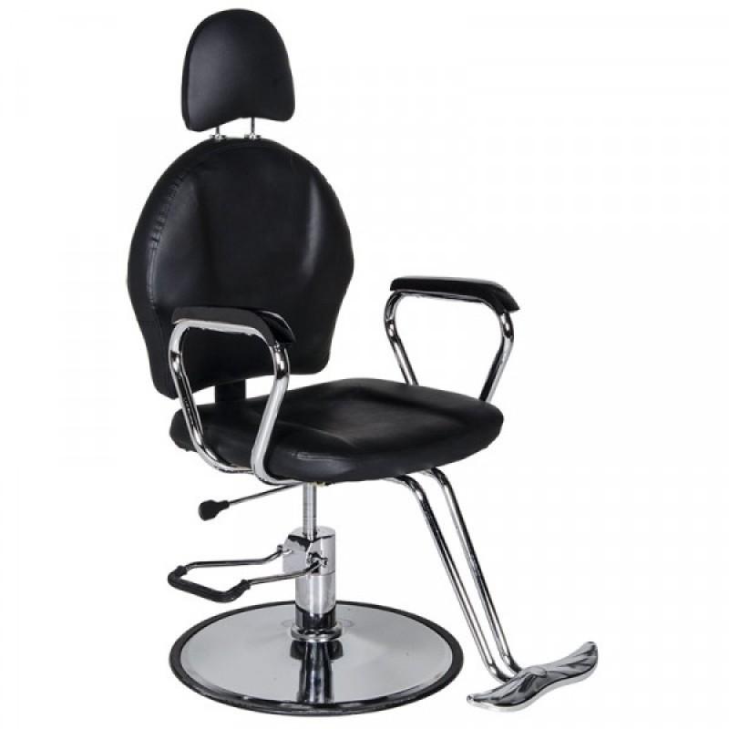 """Πολυθρόνα """"BARBERRY"""" κουρείου σε μαύρο χρώμα 58x55x126"""
