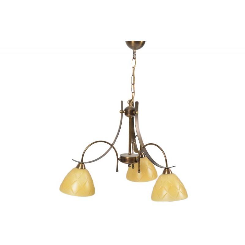 """Φωτιστικό οροφής """"LUNA"""" 3φωτο μεταλλικό σε χρώμα μπρονζέ"""