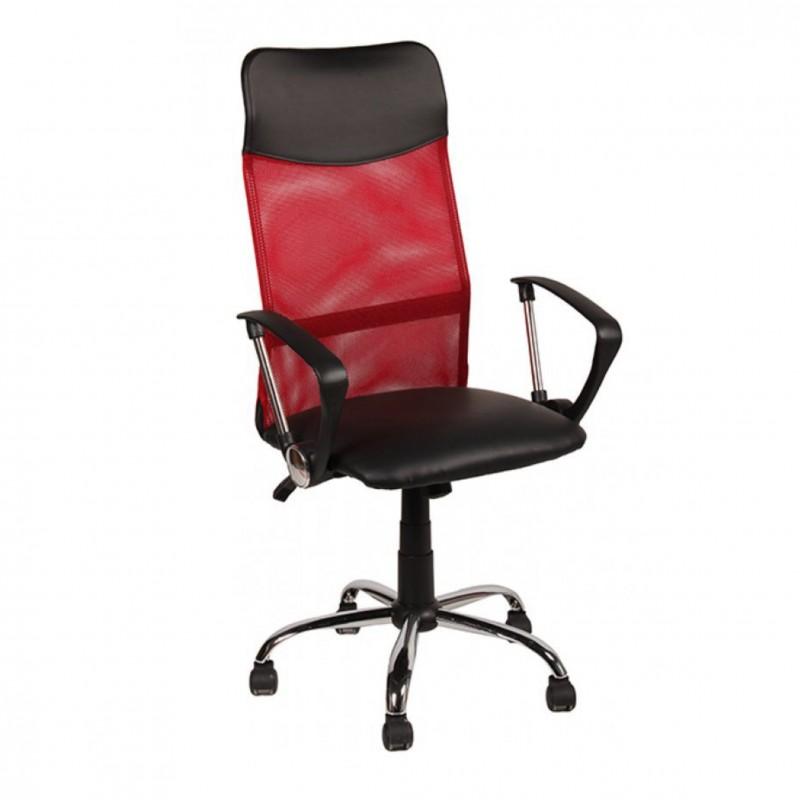 Πολυθρόνα γραφείου διευθυντή σε κόκκινο χρώμα 63x63x110/120