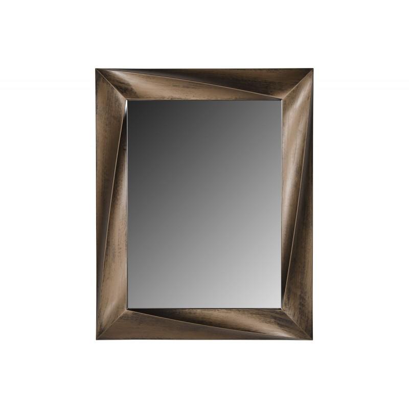 Ορθογώνιος πλαστικός καθρέπτης σε χρώμα χρυσό 75x60