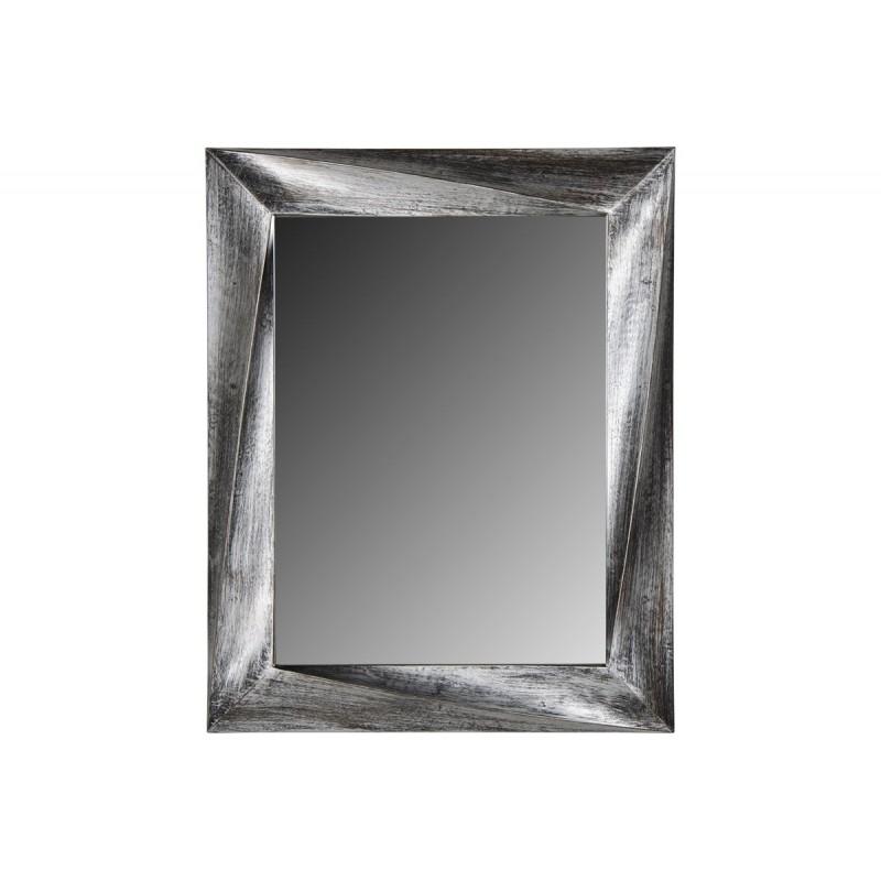 Ορθογώνιος πλαστικός καθρέπτης στο χρώμα του κασσίτερου 75x60