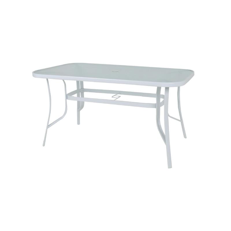 """Τραπέζι """"FESTIVAL"""" μεταλλικό σε λευκό χρώμα 120x70x71"""