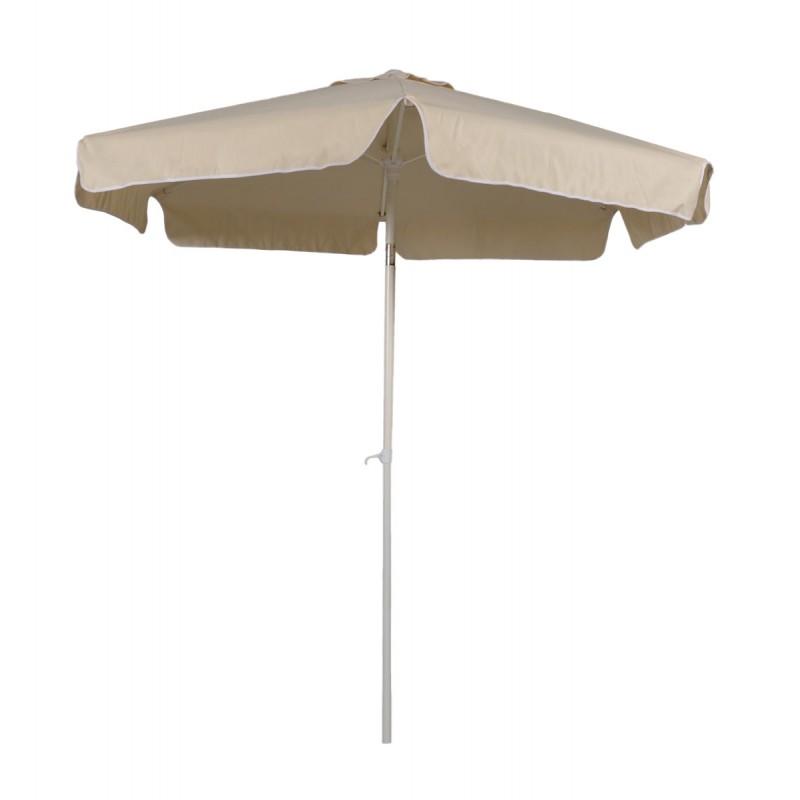 Ομπρέλα στρόγγυλη επαγγελματική με αδιάβροχο ύφασμα σε εκρού χρώμα
