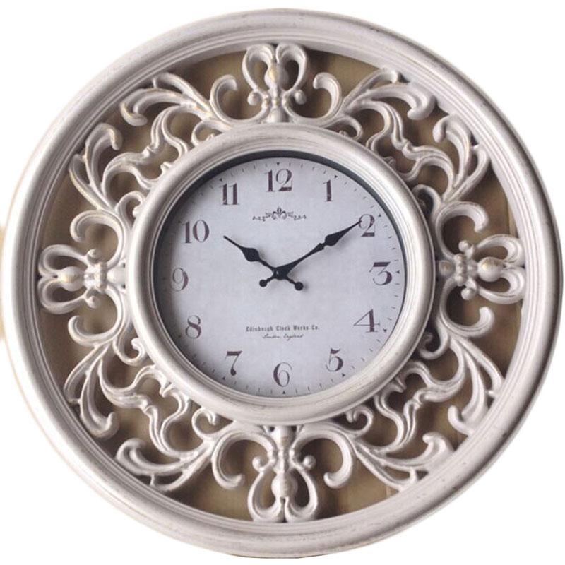 Πλαστικό ρολόι τοίχου σε χρώμα αντικέ με λευκό καντράν Φ65
