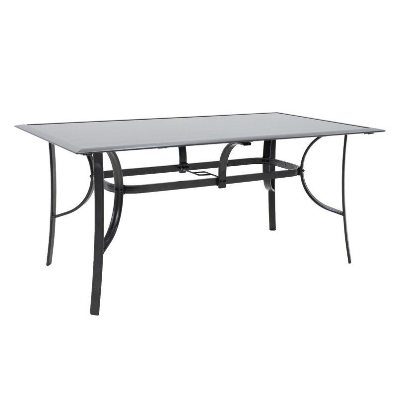 """Τραπέζι """"ROMEO"""" αλουμινίου σε χρώμα ανθρακί 140x80x72"""