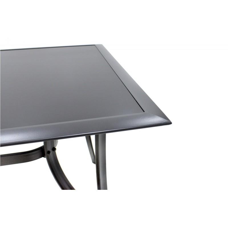 """Τραπέζι """"ROMEO"""" αλουμινίου σε χρώμα ανθρακί 160x90x72"""