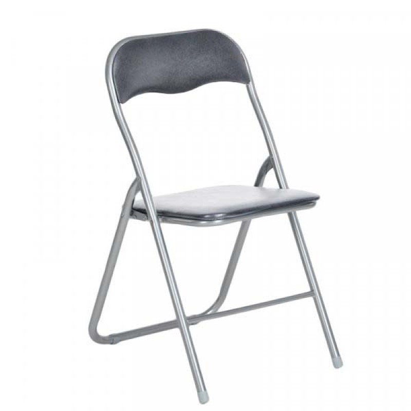 """Καρέκλα """"MANGO"""" μεταλλική πτυσσόμενη σε χρώμα γκρί 44x48x80"""