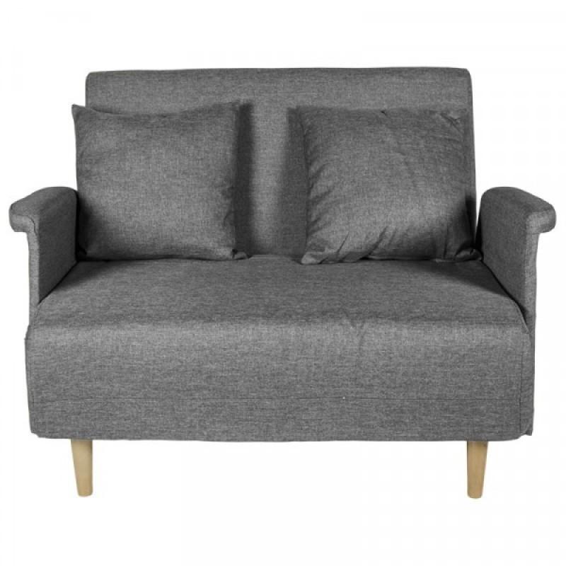"""Καναπές-κρεβάτι """"TΙΤΤΙ"""" διθέσιος υφασμάτινος σε γκρι χρώμα 101x85x87"""