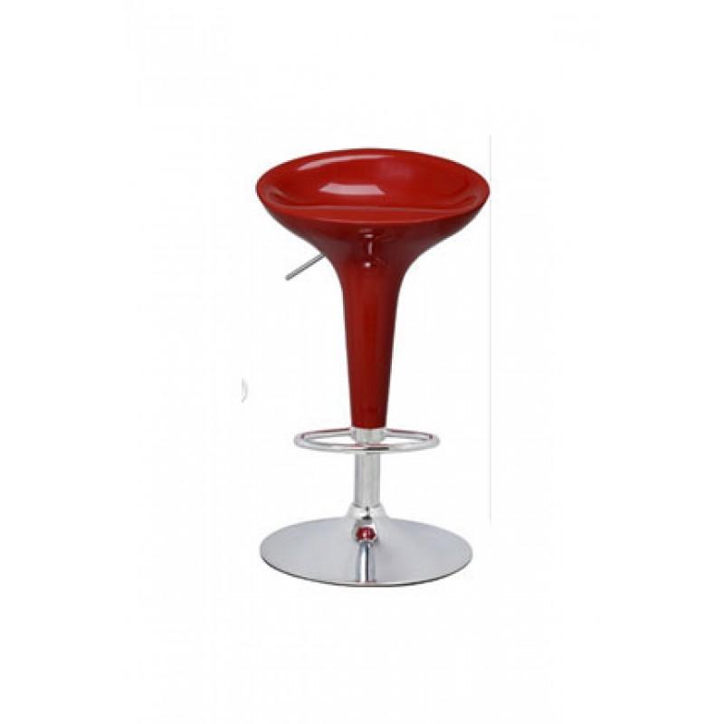 Σκαμπώ μπαρ μεταλλικό σε χρώμα κόκκινο Φ46x93/115
