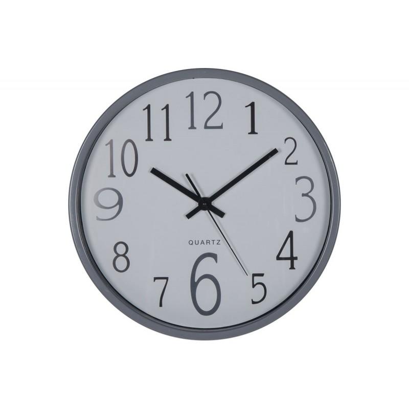 """Ρολόι τοίχου """"MINIMAL"""" πλαστικό σε γκρι χρώμα Φ30x5"""